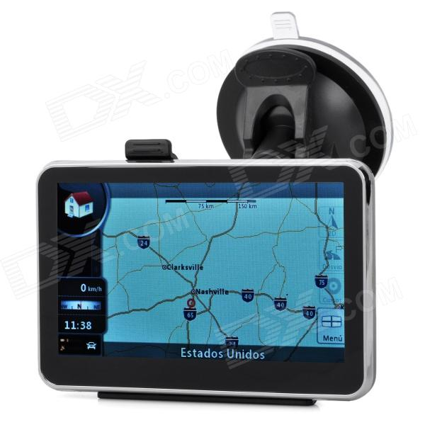 ST-4303-1 4.3 Resistive Screen WinCE 6.0 Car GPS Navigator w/ USA + Canada Map / 4GB st e12 7 0 resistive screen wince 6 0 car gps navigator w fm 4gb russia map black