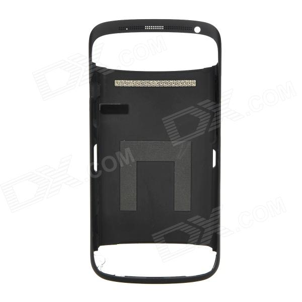 Replacement Aluminum Alloy Battery Back Cover Case for HTC One S - Black 3200mah backup battery case w holder for htc one m7 801e black
