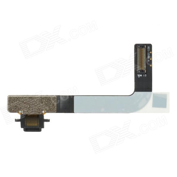 Replacement DIY Charging Connector Flex Cable for Ipad 4 - Black replacement charging tail plug connector flex cable for iphone 6 4 7 black blue multi colored
