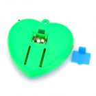 Heart Style Plastic Quilt-kicking Alarm / Reminder w/ Strap - Green (2 x AG10)