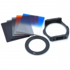 SZSYDZ201302 8-in-1 Graduated + ND4 + ND8 Square Filters + 62mm Ring + Mount - Black