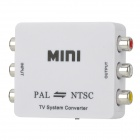 M-616 PAL / NTSC Video Signal Converter w/ 2-Flat-Pin Plug - White