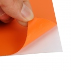 Merdia MATT002DX7 Decorative 3D PVC Carbon Fiber Film Car Wrap Sticker - Orange (152 x 50cm)