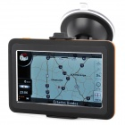 "4.3"" Resistive Screen WinCE 6.0 Car GPS Navigator w/ USA + Canada Map / 4GB - Black + Orange"