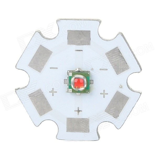 3W 120lm 620nm 20mm Red Light Board - Silver + White (DC 2.0~2.6V)