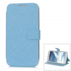 Newtons Football Grain Protective PU Leather Flip-Open Case for Samsung N7100 - Blue