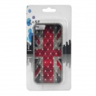 Retro UK National Flag Relief Style Protective CrystalPC Case for Iphone 5 - Red + Blue