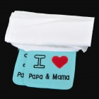 7122 Ich liebe Papa & Mama Brief Pattern Cotton Sweat Absorbing Handtücher - Weiß + Blau + Rot (2 PCS)