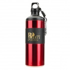 Kelailong KLL-00857 Sport Stainless Steel Water Bottle w/ Compass - Deep Red + Black (450ml)
