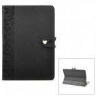Flower Style Protective PU Leather Case for Ipad MINI - Black