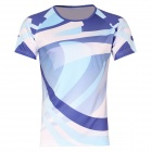 Release Moisture Wicking Quick Drying Polyester T-Shirt - Blue + White (XXXL)