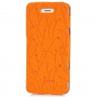 Memo Ultrathin Protective PU Leather Flip-Open Case for Iphone 5 - Orange