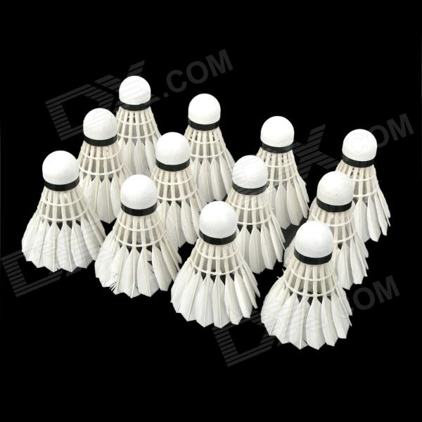 Weimasi WMY02830 Profession Badminton Goose Feather Shuttlecocks - White (12 PCS) beko wmy 91443 lb1