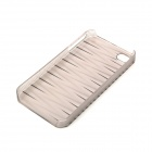 Wave Style Protective Plastic Back Case for Iphone 4 / 4S - Translucent Grey