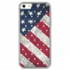 Retro US National Flag Relief Style Protective CrystalPC Case for Iphone 5 - Blue + Red