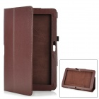 "Protective PU Leather Flip-Open Case for 12"" Samsung XE700T1C-A01 / XE500T1C-A01 - Deep Brown"