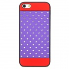 Protective CrystalPlastic Back Case for Iphone 5 - Purple + Red + Black