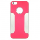 Stylish Protective Aluminum Alloy Back Case for iPhone 5 - Red + Silver
