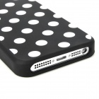 Polka Dot Style Protective Silicone Back Case for Iphone 5 - Black + White
