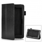 "Lychee Pattern Protective PU Leather Flip-Open Case w/ Stand + Magnet for 7"" Asus Memo Pad - Black"