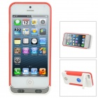 External 3500mAh Power Battery Charger Back Case w/ Anti-Theft Function for iPhone 5 - White + Red