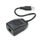 USB 3.0 to 10/100/1000Mbps RJ45 Ethernet Network Adapter Dongle - Black