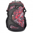 Dapai 51006 Outdoor Frameless Double Shoulder Backpack Knapsack Bag - Black + Red (30L)