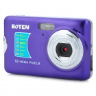 "BOTEN CDFE 2.7"" TFT 5MP CMOS 8X Digital Zoom Digital Camera w/ SD Slot - Purple + Silver"