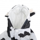 1301 Cute Cow Shape Cotton + Polyester Pet Clothes for Dog - Black + White (Size S)