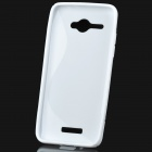 """S"" Style Protective TPU Back Case for HTC Butterfly One X5 J / Butterfly X920e - White"