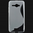"""S"" Style Protective TPU Back Case for HTC Butterfly One X5 J / Butterfly X920e - Transparent"