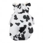 1301 Cute Cow Shape Cotton + Polyester Pet Clothes for Dog - Black + White (Size L)