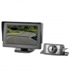 4.3' Monitor + 2.4GHz Wireless Car CMOS License Rearview Camera Kit w/ 7-LED IR Night Vision - Black