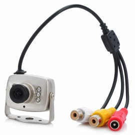 CMOS Color Surveillance Security Camera with 6-IR LED Night-Vision - NTSC (6V~9V DC)