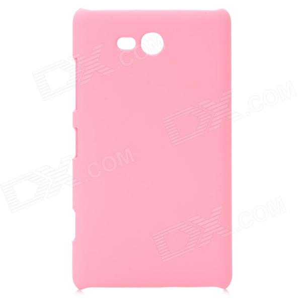 Ultrathin Protective PC Back Case for Nokia Lumia 820 - Pink rock jello series protective pc tpu back case for iphone 6 pink