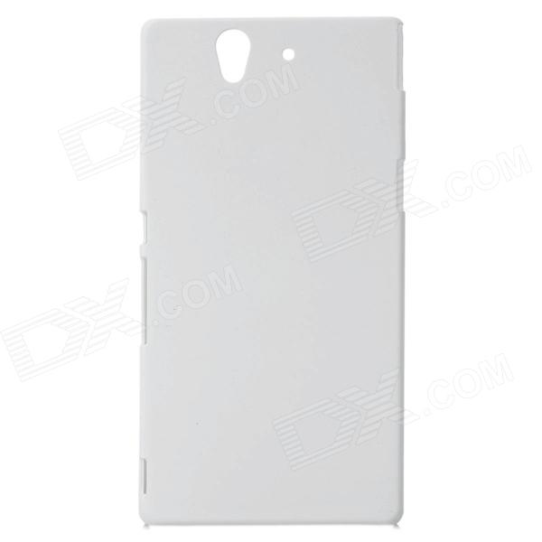 Stylish Protective PC Resin Back Case for Sony Xperia Yuga C6603 - White