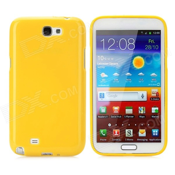 Protective TPU Back Case for Samsung Galaxy Note 2 N7100 - Yellow 2 in 1 detachable protective tpu pc back case cover for samsung galaxy note 4 black
