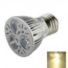TOHDA TH-E27LED-3N E27 300lm 3500K 3-LED Warm White Light Spotlight - Silver (AC 90 ~265V)