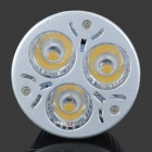 YouOkLight YK0751 E27 220lm 3500K 3-LED Proyector ligero blanco caliente-plata (CA 90 ~ 265V)