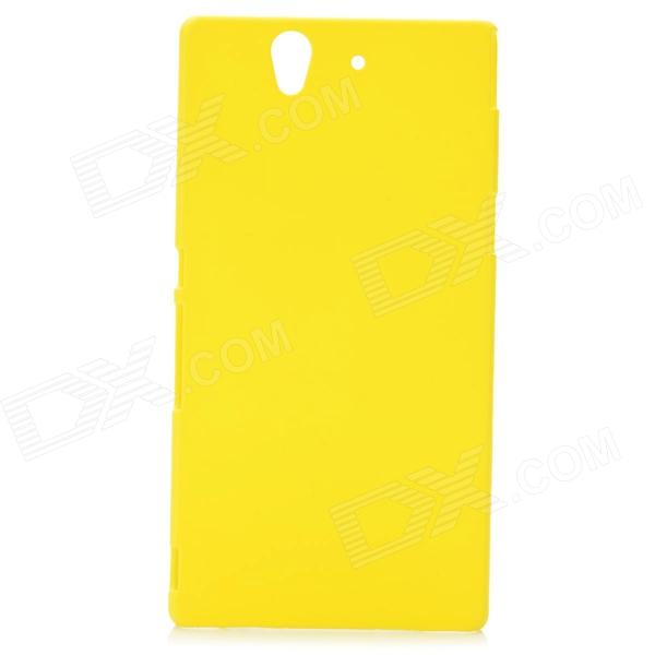 Stylish Protective PC Resin Back Case for Sony Xperia Yuga C6603 - Yellow
