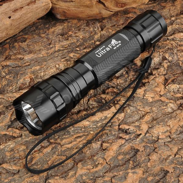 UltraFire WF-501B 750lm 5-Mode White Crown Head Flashlight w/ Cree XM-L2 T6 - Black (1 x 18650)