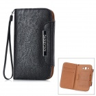 KALAIDENG Protective PU Leather Case for Samsung i9082 / i9080 - Black