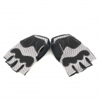 ACACIA Mercerized Cotton Cycling Half Finger Glove - черный (размер L)