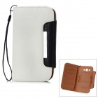 KALAIDENG Stylish Protective PU Leather Case for Samsung i9082 / i9080 - White + Black