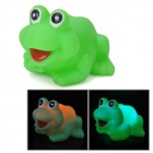 Waterproof Cute 3-LED Seven-Color Lighting Frog Toy - Green (1 x G10)