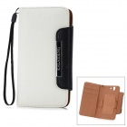 KALAIDENG Protective PU Leather Case for Sony Xperia Z L36i / L36h - White + Black