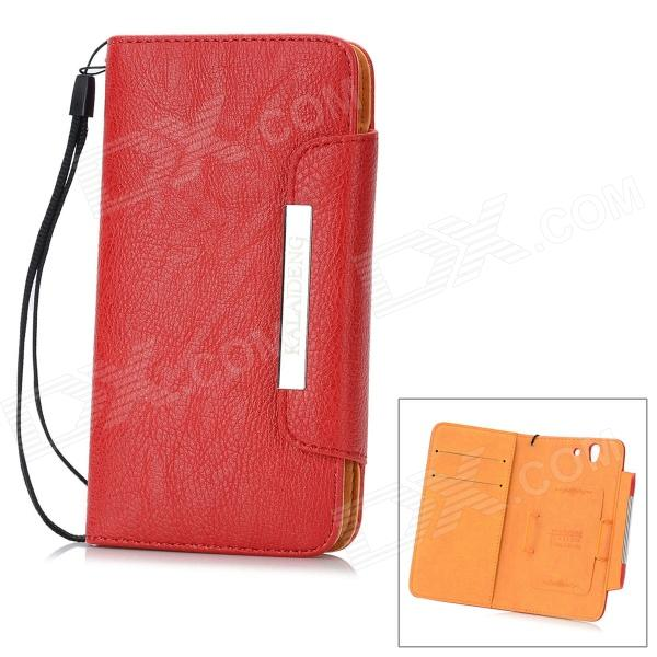 KALAIDENG Protective PU Leather Case for Sony Xperia Z L36i / L36h - Red