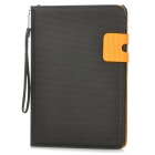 Basketball Pattern Protective PU Leather Flip-Open Case w/ Card Slot for IPAD MINI - Black