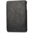 Protective PU Leather + ABS Flip-Open Case w/ Stand for Ipad MINI - Black