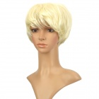 Fashion fleeciness Short Natural Straight Haar Perücke - Beige